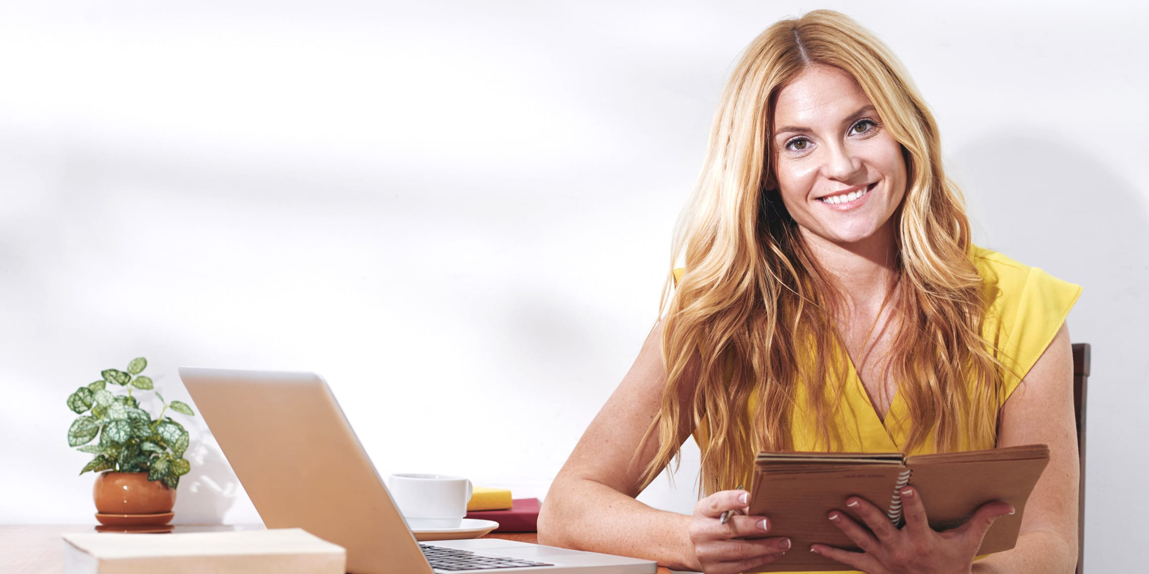 woman with laptop and iPad